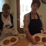 Clare and Cassie with their Pineapple Upside Down Cakes