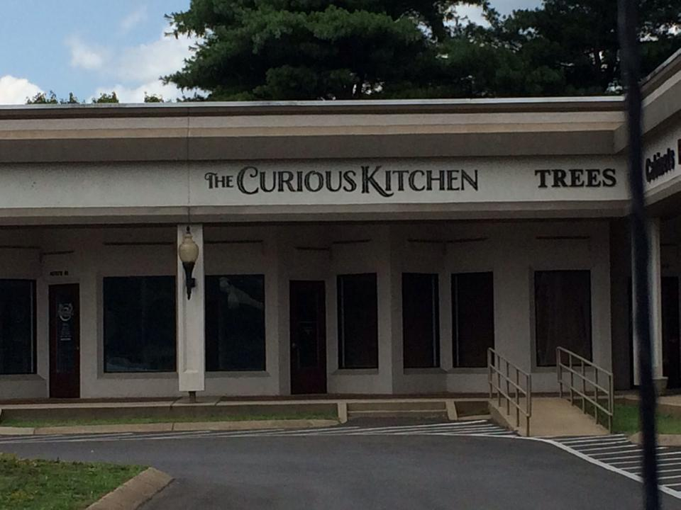 The Curious Kitchen sign is up